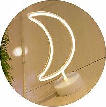 GUOCHENG Moon Shaped LED Neon Lamp Warm White
