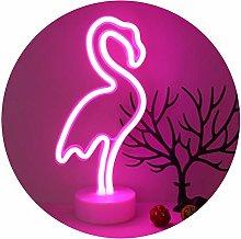 GUOCHENG Pink Shine Flamingo LED Neon Lamps LED
