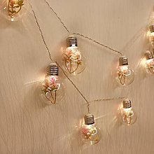 GUOCHENG Plant Decor Ball String Light Globe Bulbs