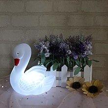 GUOCHENG Swan Night Light Battery Operated Animal
