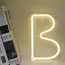 GUOCHENG Warm White Neon Letters Light Sign