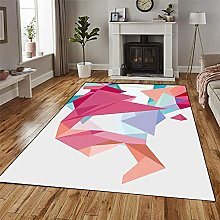 GUODIU Area Rug 90x380cm Soft Touch Short Pile