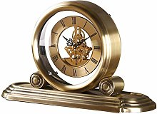 GUOLINGHUI Brass Desk Clocks, Classic Table Clock,