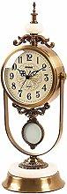 GUOLINGHUI Classic Desk Clocks,Silent Pendulum