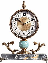 GUOLINGHUI Metal Silent Desk Clocks, Table Clock