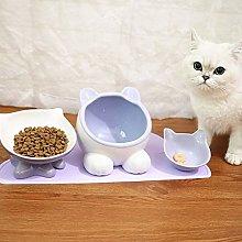 GuoQiang Zhou Cat Bowl Ceramic Bowl Cats Food Set