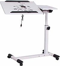 GUOQING Portable Overbed Chair Mobile Desk With