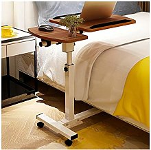 GUOQING Portable Overbed Chair Mobile Lap Table,