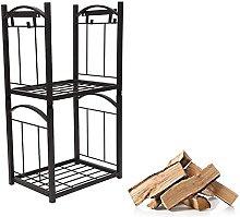 guoqunshop fireplace tool set Firewood Rack With