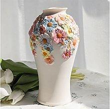 guoqunshop Flower Vase Fresh Flowers Hand-painted