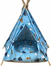 GUOTAIJUNFU Pet Bed Pet Tent with Mat Wooden Dog
