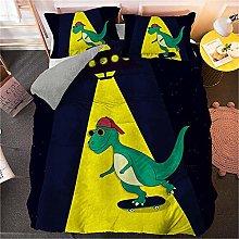 Guoting 3D Bedding Set Cartoon Animal Dinosaur