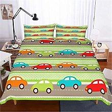 GUOTING 3D Bedding Set Cartoon Cute Children Car