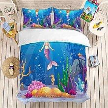 GUOTING 3D Bedding Set Cartoon Sea Seahorse (220 X