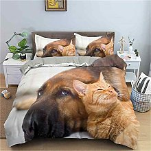 GUOTING 3D Bedding Set Cute Animal Dog Cat (220 X