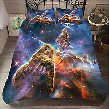 Guoting 3D Bedding Set Dream Purple Starry