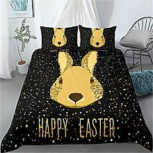 Guoting 3D Bedding Set Easter Animals Yellow Bunny