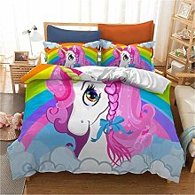 GUOTING 3D Bedding Set Pink Cute Animal Horse (135