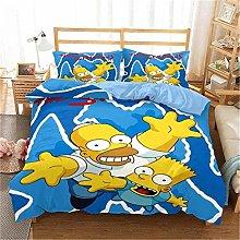 GUOTING 3D Bedding Set Yellow Cartoon Children