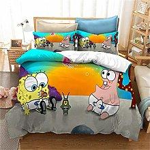 GUOTING Bedding Set Double Bed Set 3Piece Cartoon