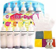 guoxia74534 5 Colors/Set Tie-Dye Kit, DIY Clothing