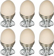 GUOXIANG Egg Cup Egg Set of 6 Metal Wire Tray Cup
