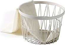 GUOXIANG Wire Basket Black Round Metal Basket