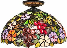 GUOXY 16 Inches Jewelled Design and Stained Glass