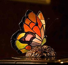 GUOXY Butterfly Table Lamp Stained Glass Butterfly