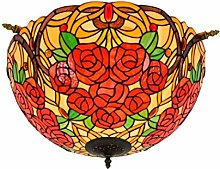 GUOXY Ceiling Lights Flush Mount, Vintage Stained