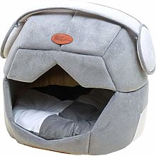 GUOXY Deluxe Soft Dog Pet Bed, 2 in 1 Pet House