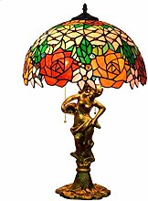 GUOXY Desk Lamp 16 inch Stained Glass Table Lamp