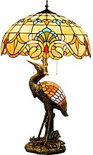 GUOXY Dimmer Male Crane Desk Lamp, 50Cm Baroque