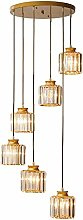 GUOXY Nordic Crystal Chandelier Light Gates Design