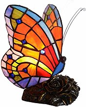 GUOXY Stained Glass Butterfly Decor Lighting for
