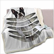 GUOXY Standing Dog Throw Blanket on Bed 3D Animal