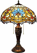 GUOXY Table Lamp 16-Inch Stained Glass Desk Lamp