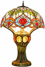 GUOXY Vintage Art Deco Table Lighting,Stained