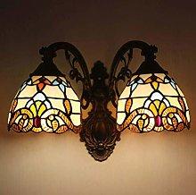 GUOXY Wall Handmade Stained Glass Wall Light