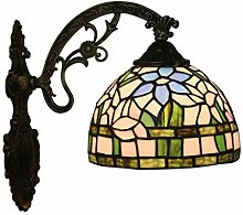 GUOXY Wall Light 8 inch Stained Glass Shade