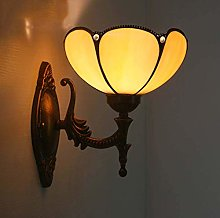 GUOXY Wall Mount Lamp, Vintage Yellow Stained