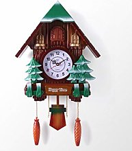 GuoYQ Chalet-Style Wooden Cuckoo Clock,
