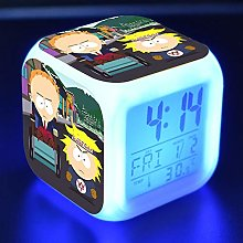 GUOYXUAN Cartoon LED color changing digital clock