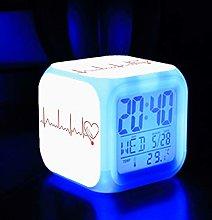 GUOYXUAN Digital alarm clock color change wake up