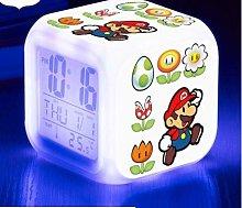 GUOYXUAN LED alarm clock 7 color watch change