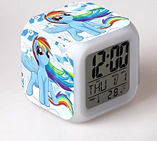 GUOYXUAN LED alarm clock 7 colors change digital
