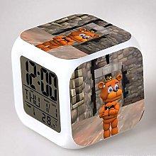 GUOYXUAN LED alarm clock night light clock watch