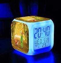 GUOYXUAN Number color change wake up alarm clock