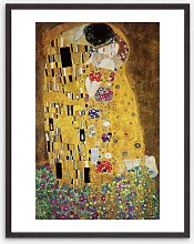 Gustav Klimt - 'The Kiss' Wood Framed