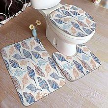 GUVICINIR 3 Piece Bathroom Rugs Set with U-Shaped